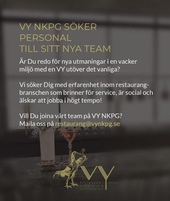 Vi på VY söker personal i Norrköping